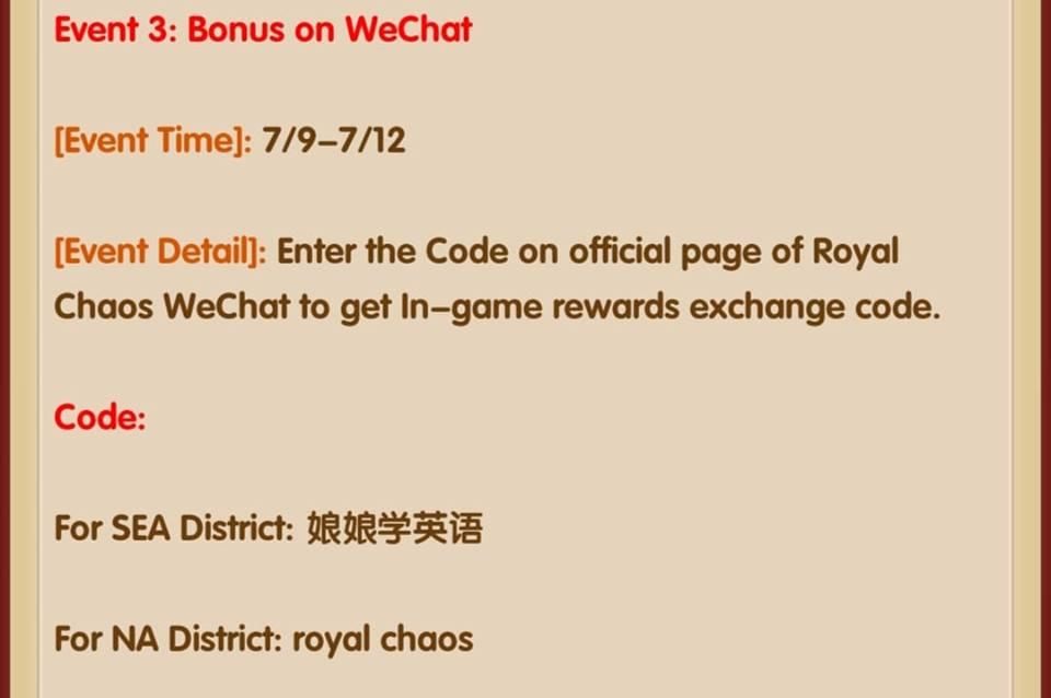 royal chaos redeem code