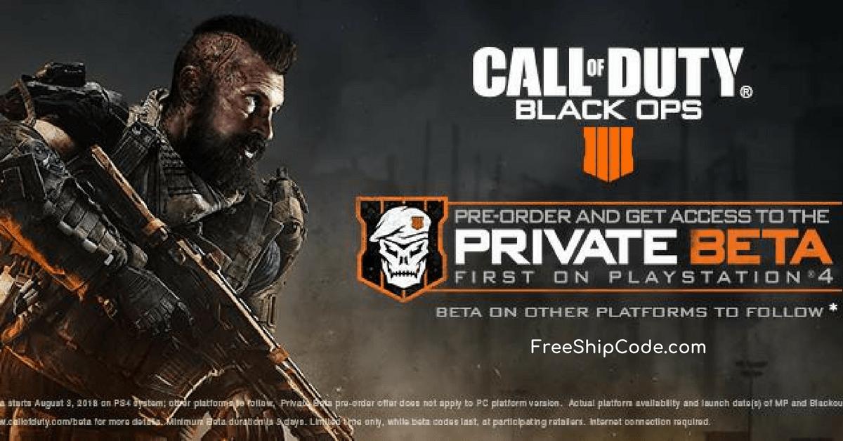 black ops 4 free beta code
